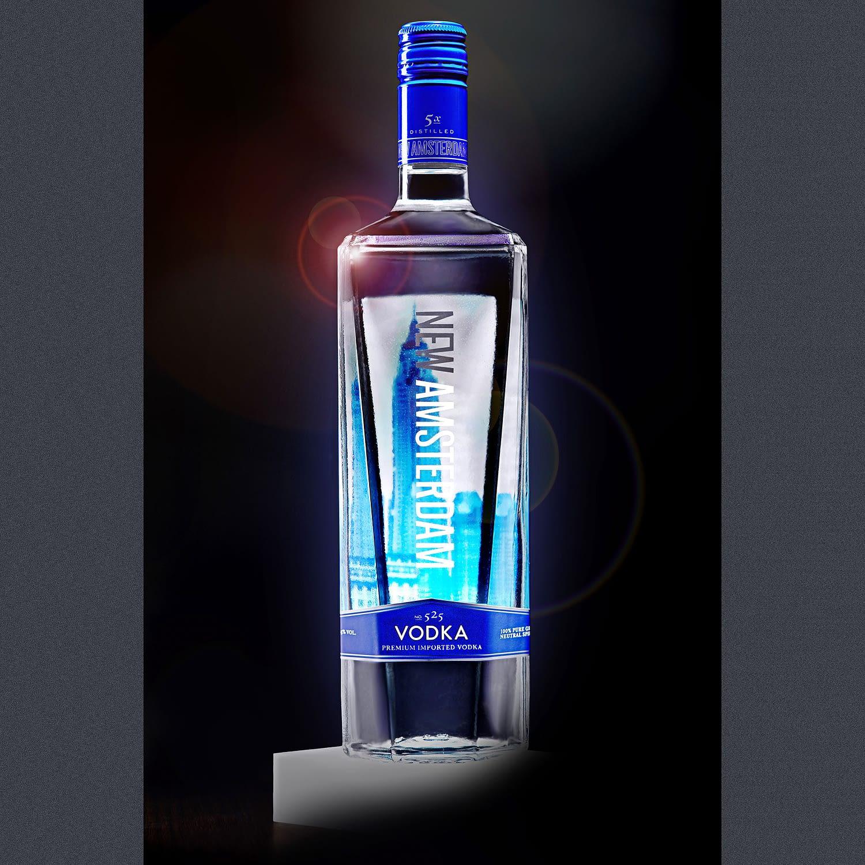 Product shot of New Amsterdam Vodka