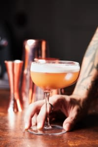 Cocktail being served